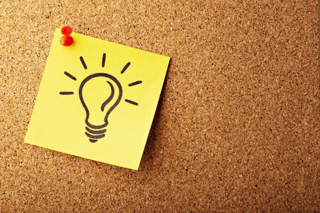 Lightbulb Concept Cork Bulletin